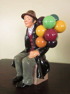 1954 Antique Figurine Royal Doulton Balloon Man Saint-Hyacinthe Québec image 2
