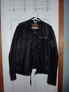 Vintage XL Leather Harley Davidson Jacket