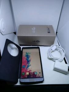 LG G3 32GB UNLOCKED with case, box, charger and plug