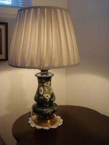 Lampe de table, Vintage ( laiton et porcelaine )