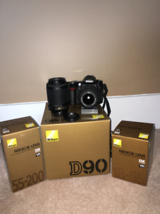 Nikon D90 package-includes camera body,2 lenses