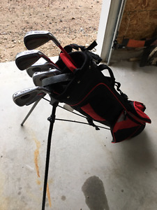 Junior Set of Golf Clubs and 2 Pairs of Golf Shoes