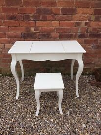 """Kids Great Little Trading Company """"Florence Dressing Table & Stool"""" - Ivory RRP £225 - Brand New"""