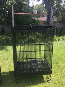 One Large Wrought Iron Parrot Cage