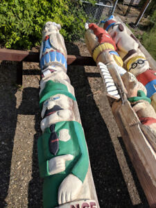 Decorative Unique Totem Poles (From Bullwinkles)