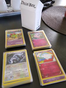 100 cartes pokémon mélangées des séries XY