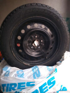 205/55R16 Set of 4 winter tires on steel rims