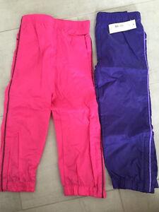 Toddler girl windbreaker (slush) pant. Size 4 T