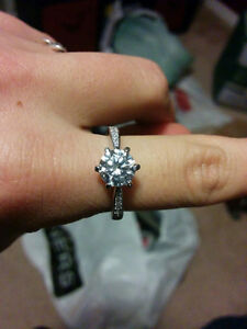 Size 7 Sterling Silver + CZ Stone Ring - Brand New Kitchener / Waterloo Kitchener Area image 1