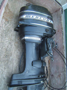 Mercury 50HP Four long shaft boat motor and controller for sale