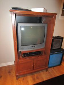 Meuble TV bois de meurisier