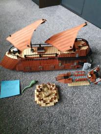 Lego star wars set 6210 jabbas sail barge