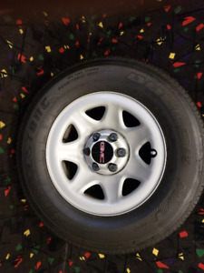 GMC truck/van rim and tire package!!
