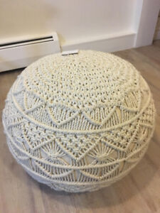 Knitted Pouf Foot Stool Rest