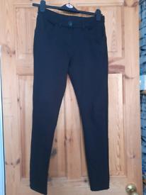 Black slim school trousers