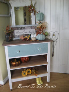Robin's Egg Blue Chalk Painted,Repurposed Dresser /Cabinet!