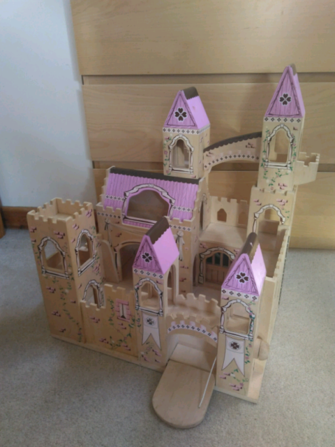 Melissa Doug Pink Princess Wooden Folding Castle In Darlington County Durham Gumtree