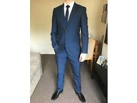 Men's Next Suit size 40R/34R Slim Fit Navy