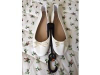 Ivory Ballet Pumps from New Look 7 Wedding Bridesmaid Bridal