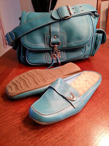 COMBO set ~ slip on shoes with purse
