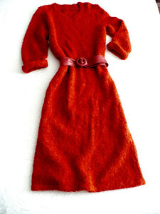 LADY'S HAND KNIT DRESS - IMPORTED FRENCH BOUCLÉ YARN