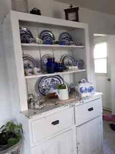 Old antique wood hutch