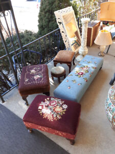 Various Vintage Antique Footstool  Moving Sale foot stool