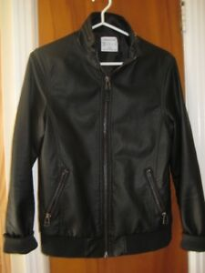 Vegan black leather jacket, Urban Outfitters XS