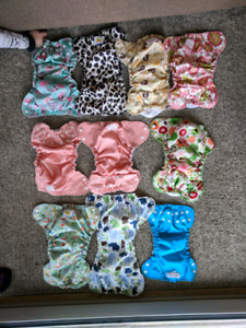 AMP and Applecheeks Cloth Diapers