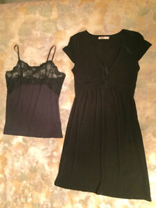 Black dress and camisole