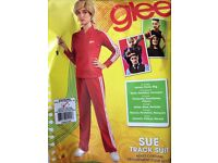 Adult Fancy Costume - Sue Track Suit & Wig - Glee