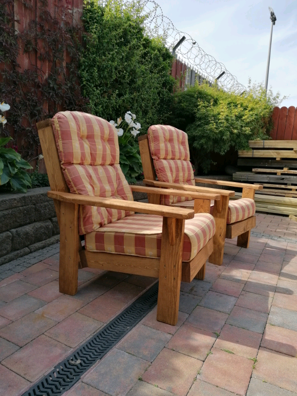 SALE. LAST SET LEFT***** GARDEN ARMCHAIRS. GARDEN SEATS ...