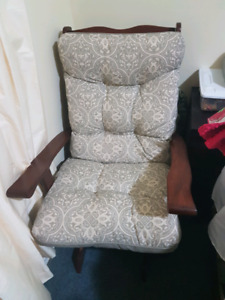 Rocking chair / glider and matching ottoman
