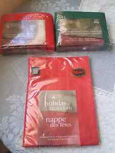Holiday Time tablecloths brand new