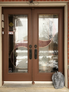Entry Door-Costello Custom Premium Entry Front Color Glass Full
