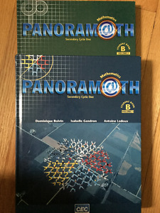 """Panoramath Text Books - Secondary Cycle 1 Book """"B"""" Volumes 1 & 2"""