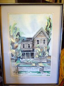 "Original Watercolor by Barbara Smith ""Rural Ontario - #1"" Stratford Kitchener Area image 1"