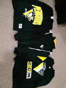 Pittsburgh Penguins jerseys assortment and windbreaker