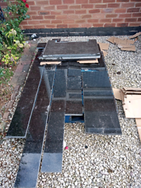 Granite worktops and upstands used