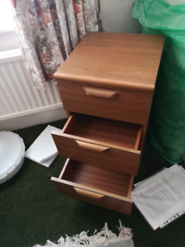 Small wooden chest of drawers (collection only)