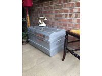 VINTAGE TRUNK CHEST FREE DELIVERY COFFEE TABLE ANTIQUE