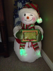 PERSONALIZED FIBRE OPTIC SNOWMAN GREETER! St. John's Newfoundland image 1
