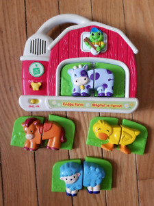 Leap Frog Magnetic Fridge Farm - English and French