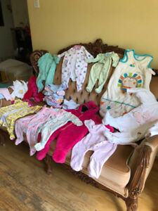 Girl clothes - lightly used - 0-3 months - cool weather