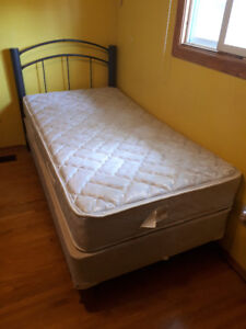 Twin Mattress, Frame and Headboard Set (Selling Together)