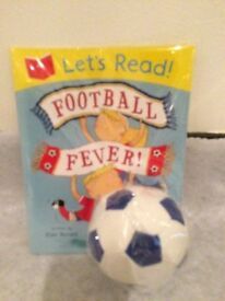 New football fever book and ball