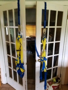 2 Safety harness's used once