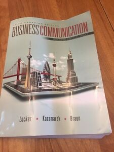 Business communications textbook Conestoga