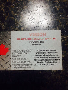 Vision manufacturing sloutions Cambridge Kitchener Area image 1