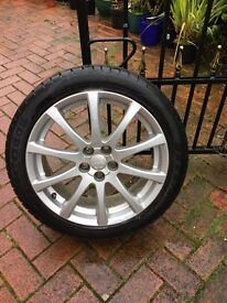 Toyota avensis alloy wheel and tyre